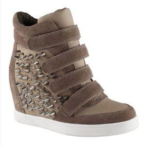 ALDO Spiked Sneaker Wedges
